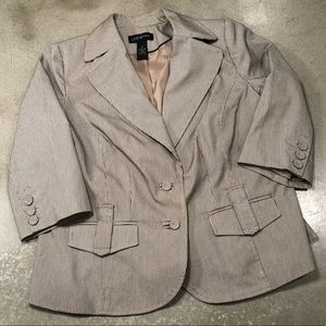 Lane Bryant 3/4 sleeves Striped blazer